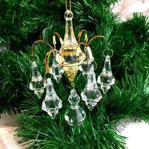 Chandelier Christmas Ornament Acrylic Pendant